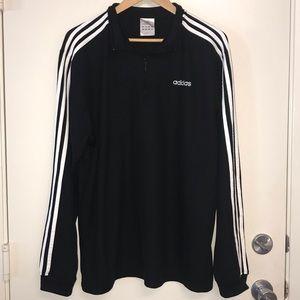 Adidas Quarter Zip Black and White